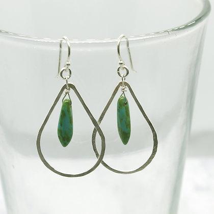 Teardrop Dagger Turquoise Earrings