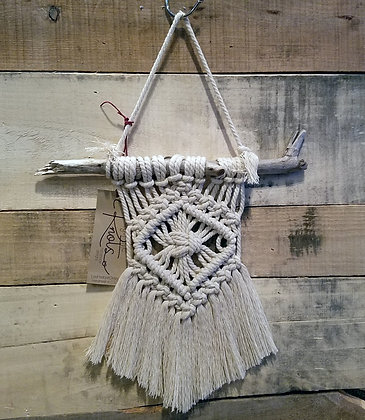 ONE-OF-A-KIND Forget Me Knots Macrame Diamond Wall Hanging