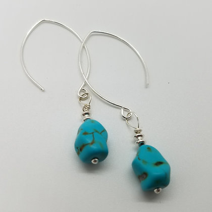 Glint Petite Turquoise Dangle Earrings