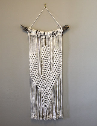 Forget Me Knots Macrame Saguaro Cactus Wall Hanging-Large Cholla