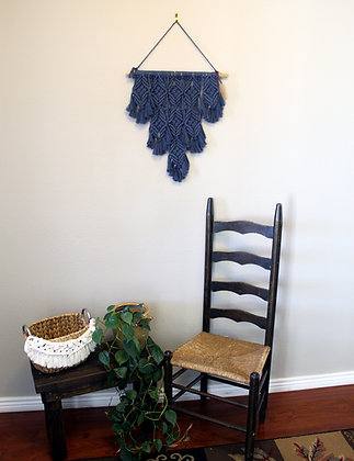 "Forget Me Knots Macrame ""Denim""l Wall Hanging"