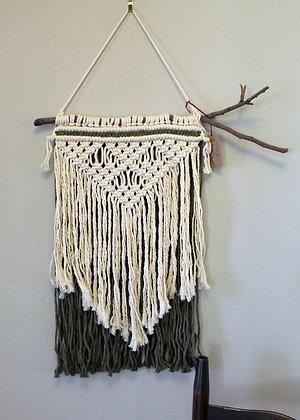 Forget Me Knots Macrame Tassel Wall Hanging