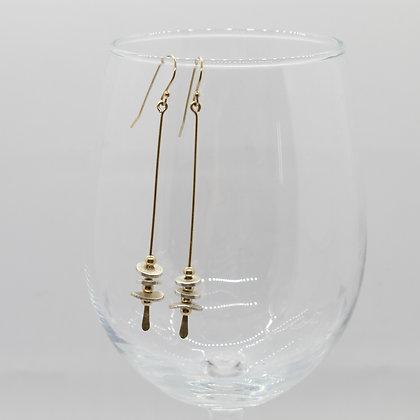 Dot Dash Stem Earrings