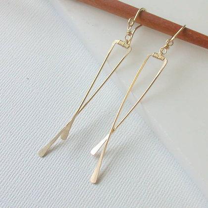 Angled Crisscross Earrings