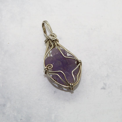 Raw Amethyst Wire Wrapped Pendant
