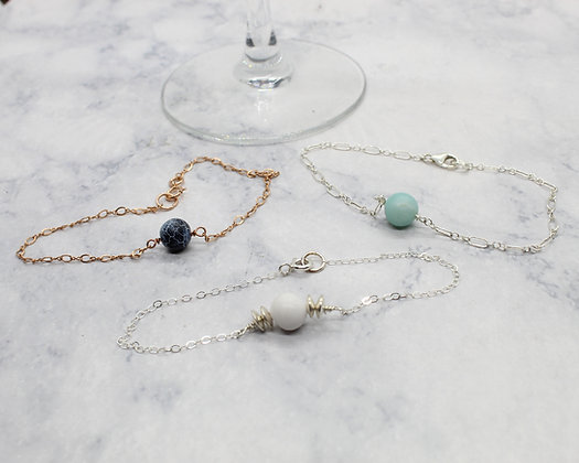 Single Stone Chain Bracelet