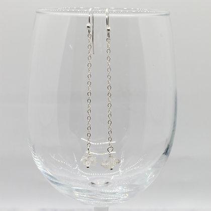 Brit Herkimer Diamond Chain Earrings