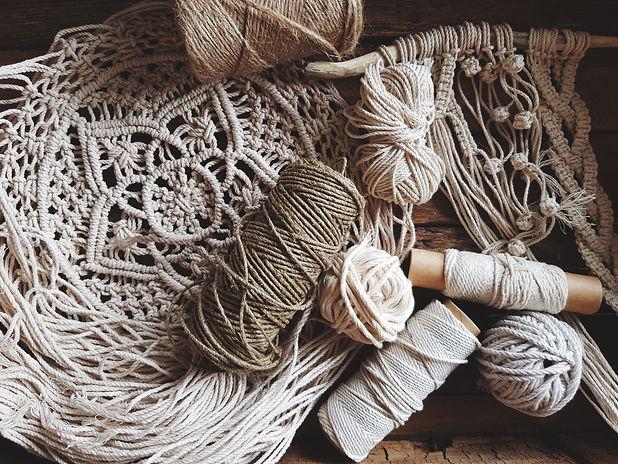 Hobby, handwork. Macrame weave.jpg