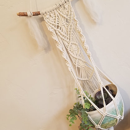 Forget Me Knots Macrame Wall Plant Hanger