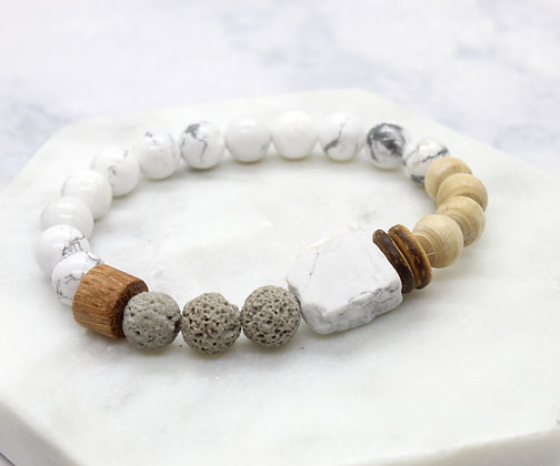 Be Calm Healing Stacking Bracelet (diffuser)