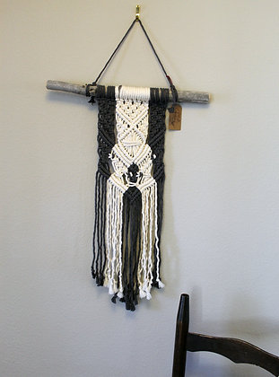 Forget Me Knots Macrame Two-Tone Wall Hanging