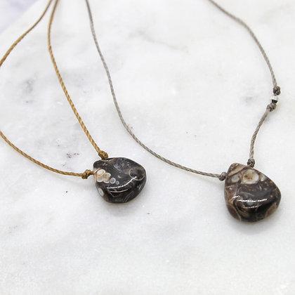 Teardrop Silk Cord Healing Necklace