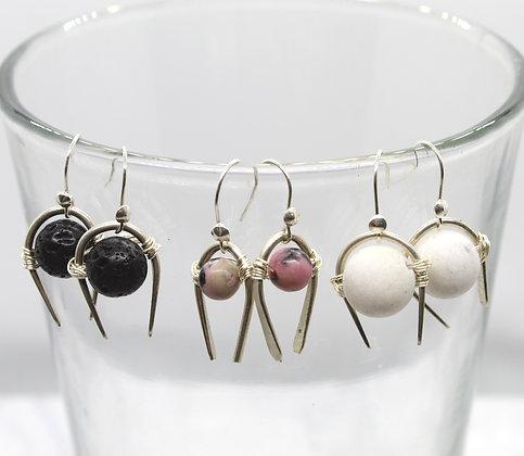 U-Stone Earrings