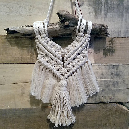 Forget Me Knots Macrame Tassel Wall Hanging