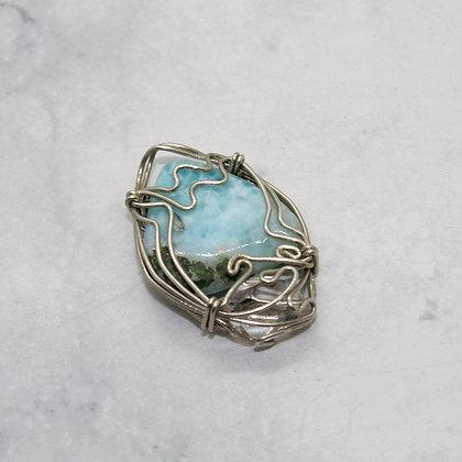Larimer & Herkimer Diamond Wire Wrapped Pendant