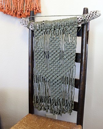 Forget Me Knots Macrame Saguaro Cactus Wall Hanging-Small Cholla