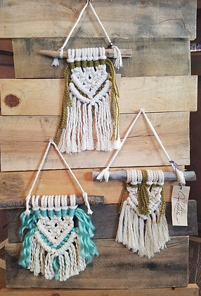 Forget Me Knots Macrame Chevron Wall Hanging