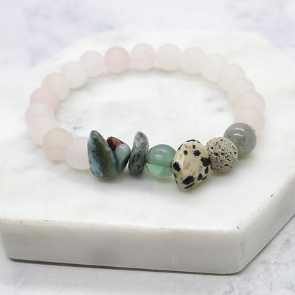 Follow Your Heart Healing Stacking Bracelet (Diffuser)
