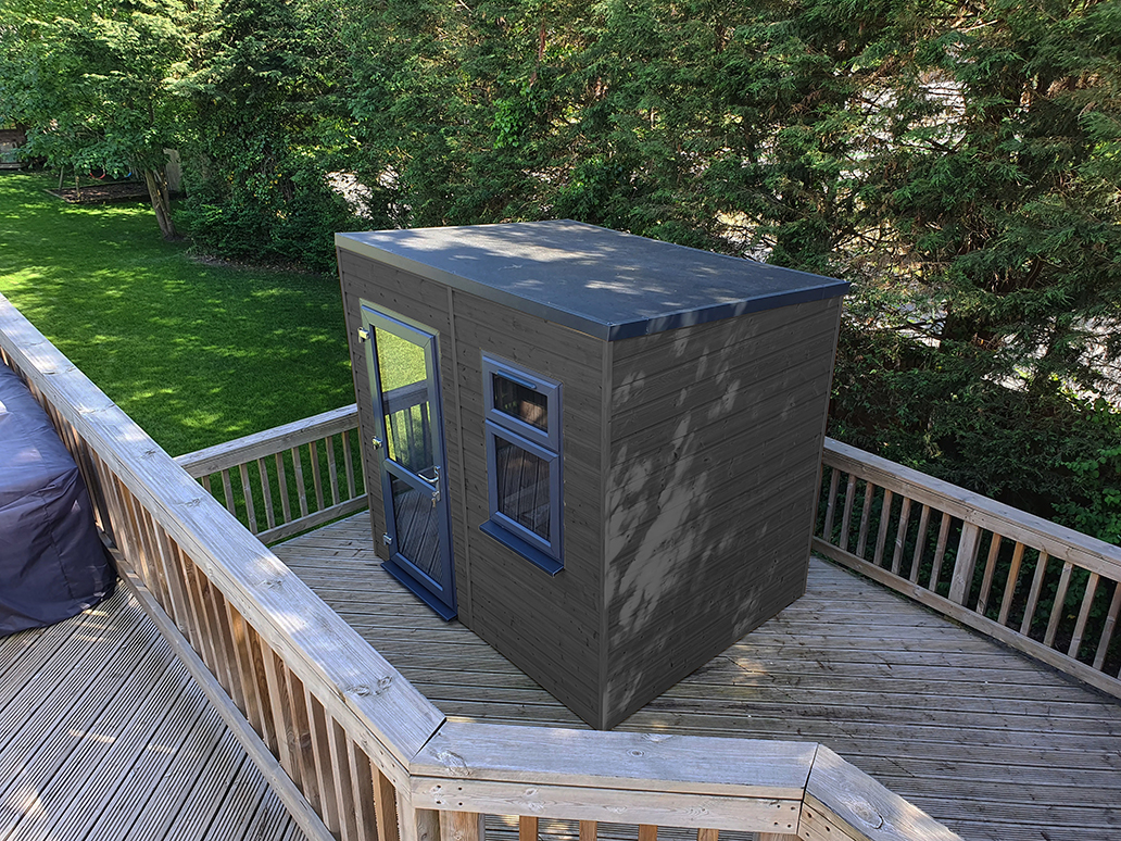 HOP Urban Slate Finish Garden Office Pod
