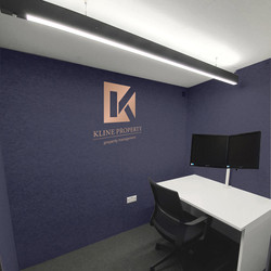 Home office pod custom branding