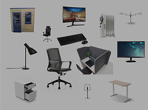 Home-office-pod-collage-office-equipment