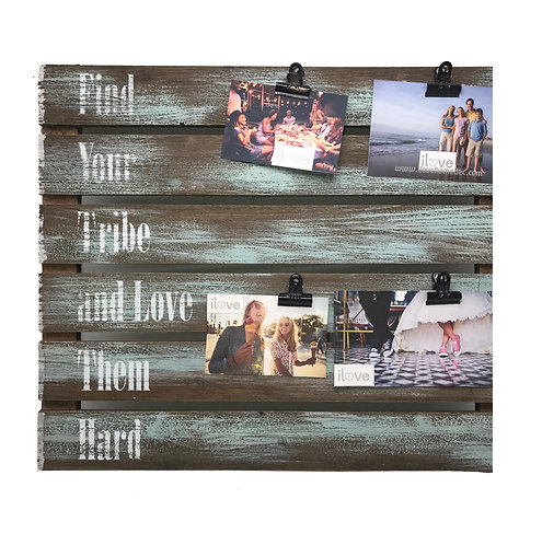 Find Your Tribe 4 Photo Clip Board