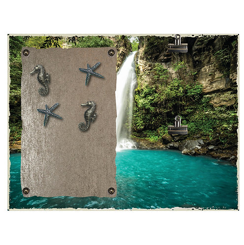 Waterfall Magnet and 2 Photo Clip Board