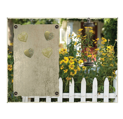 Garden Magnet and 2 Photo Clip Board