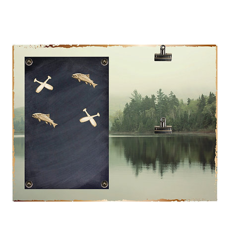Tranquil Lake Magnet and 2 Photo Clip Board