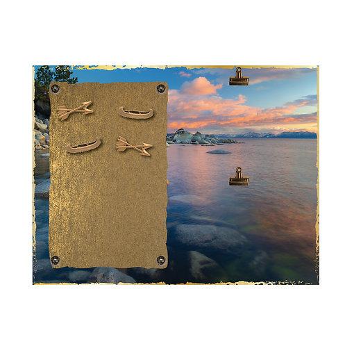 Lake Sun Rise Magnet and 2 Photo Clip Board