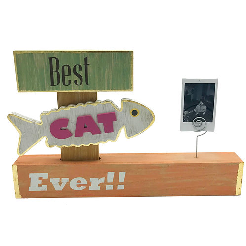 Wood Photo Display: Best Cat Ever!!