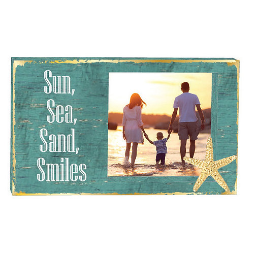 Sun, Sea, Sand Smile (Teal w/ Anchor charm),