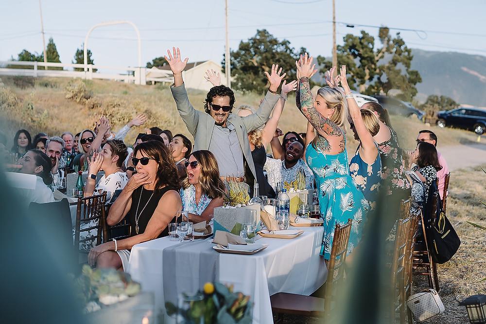 Wedding Reception in Malibu