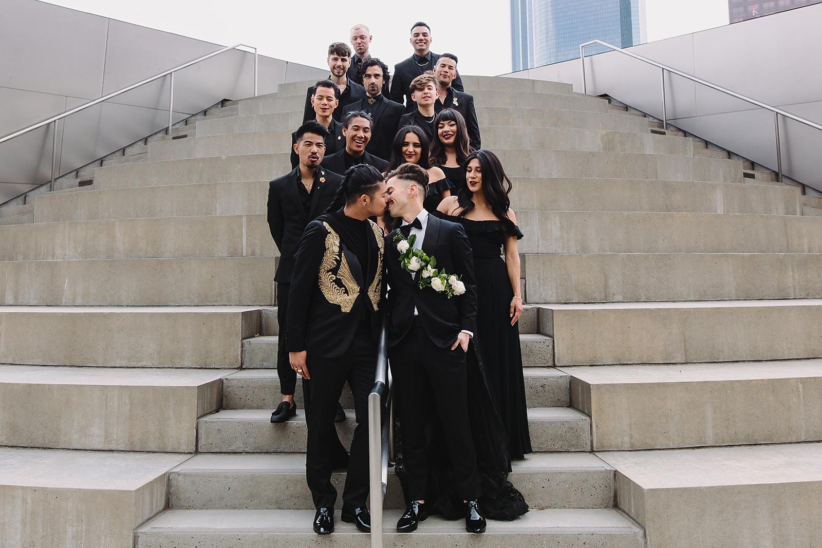 Disney Concert Hall Wedding Party