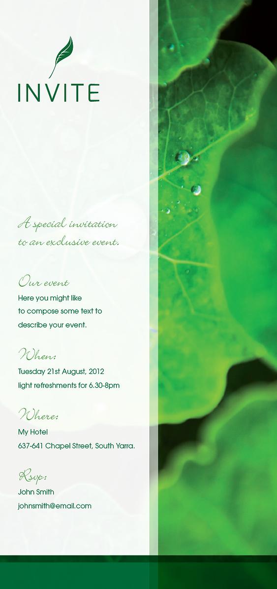 Nature Invitation Design