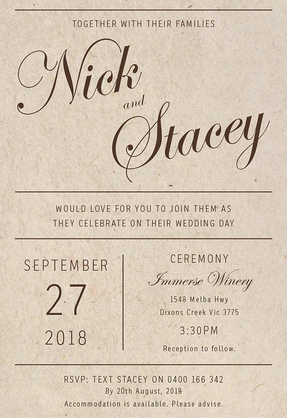 Wedding Invitat ion