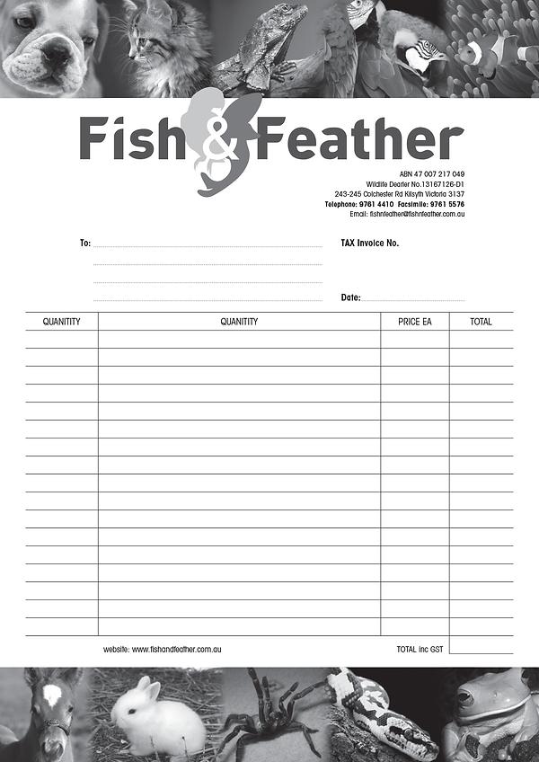 Invoice form design