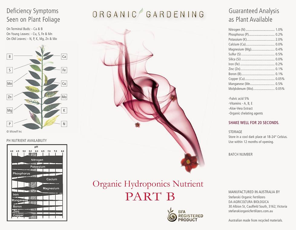 Organic Gardening Label Design