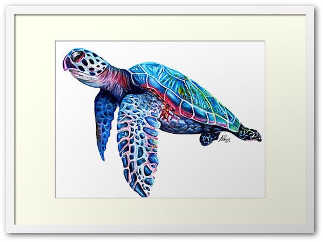 art prints, sea turtle, art, design, pretty, redbubble, sophie elaina