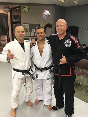 "Gregory Hammerton, Eduardo ""Dudu"" Barros, and Todd Meighen"
