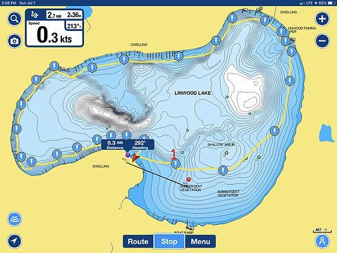 Linwood Lake AIS Survey Points 7-7-2019.