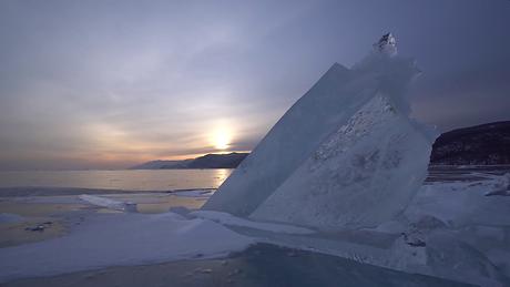 videoblocks-sunrise-lake-baikal-iceberg-