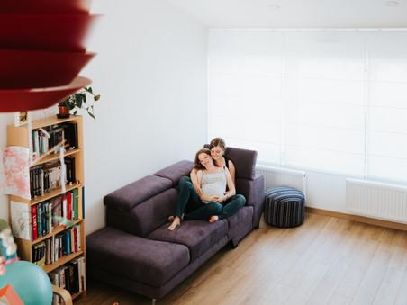 Anne Laure & Elodie ... Daphné  / Séance Grossesse Lifestyle /  Domicile & Extérieur