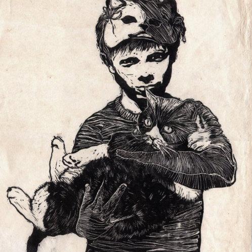 Munch Linocut