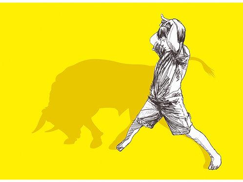 Bull Shadowplay Giclee Print