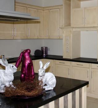 Kundenauftrag, Fassung einer Küche mit Küchenblock