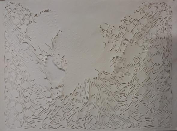Circle of Willis, relief print - paper cut, 100 x 80 cm, 2016