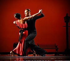 Couple Ballrom Dancing at Manatee Players Theater