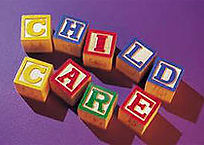 Blocks spelling out Child Care