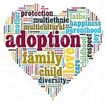 Heart with adoption words